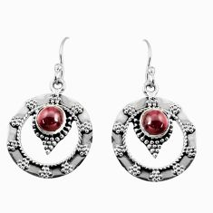 Clearance Sale- 925 sterling silver 2.35cts natural red garnet dangle earrings jewelry d38084