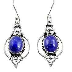 Clearance Sale- 925 sterling silver 8.32cts natural blue lapis lazuli dangle earrings d38088