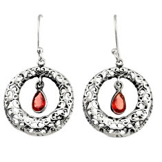 925 sterling silver 2.33cts natural red garnet dangle earrings jewelry d38117