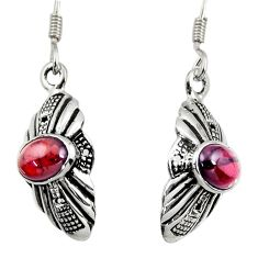 3.29cts natural red garnet 925 sterling silver dangle earrings jewelry d38140