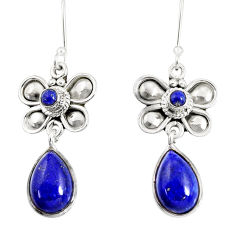 blue lapis lazuli 925 sterling silver dragonfly earrings d38180