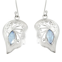 Clearance Sale- 925 sterling silver 4.92cts natural rainbow moonstone dangle earrings d38191