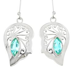 Clearance Sale- 925 sterling silver 5.38cts natural blue topaz earrings jewelry d38204