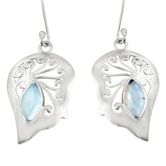 Clearance Sale- 5.13cts natural rainbow moonstone 925 sterling silver earrings jewelry d38211