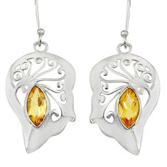 925 sterling silver 5.16cts natural yellow citrine earrings jewelry d38213