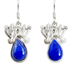 Clearance Sale- 5.79cts natural blue lapis lazuli 925 sterling silver love birds earrings d38272