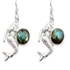 925 silver 8.25cts natural blue labradorite fairy mermaid earrings d38275
