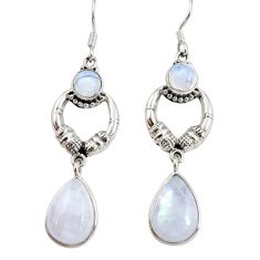 Clearance Sale- 12.02cts natural rainbow moonstone 925 silver love birds earrings d38277