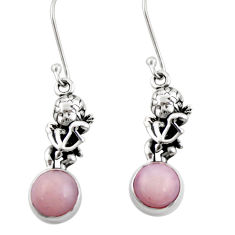 pink opal 925 sterling silver angel earrings jewelry d38396