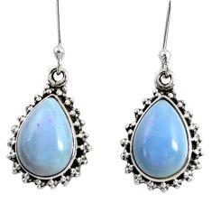 Clearance Sale- 925 sterling silver 9.43cts natural blue owyhee opal dangle earrings d38475