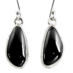 11.07cts natural black shungite 925 sterling silver earrings jewelry r14544