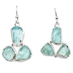 925 silver 18.47cts natural aqua aquamarine rough dangle earrings jewelry r16920