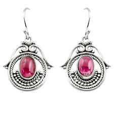4.92cts natural red garnet 925 sterling silver dangle earrings jewelry r18967