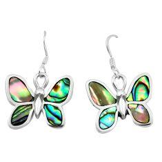 6.25gms abalone paua seashell enamel 925 silver butterfly earrings a91918 c13629
