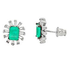 6.58cts aqua chalcedony topaz 925 sterling silver earrings jewelry c9306