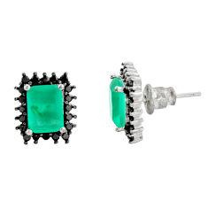 4.84cts aqua chalcedony topaz 925 sterling silver stud earrings c9223