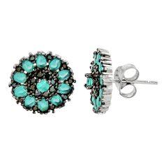 4.84cts aqua chalcedony topaz 925 sterling silver stud earrings c9228
