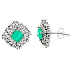 6.82cts aqua chalcedony topaz 925 sterling silver stud earrings c9259