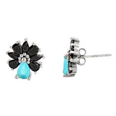 4.89cts aqua chalcedony topaz 925 sterling silver stud earrings c9262
