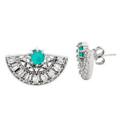 6.75cts aqua chalcedony topaz 925 sterling silver stud earrings c9351