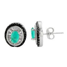 4.84cts aqua chalcedony topaz 925 sterling silver stud earrings c9609