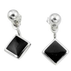4.69gms black onyx enamel 925 sterling silver dangle earrings jewelry c11712