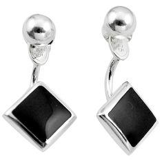Black onyx enamel 925 sterling silver dangle earrings jewelry c23066