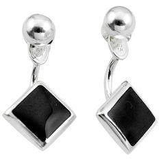 Black onyx enamel 925 sterling silver dangle earrings jewelry c23067