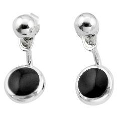 Black onyx enamel 925 sterling silver dangle earrings jewelry c23079