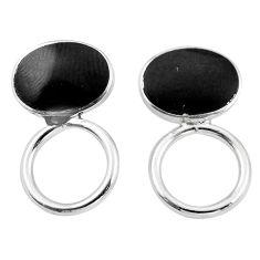 Black onyx enamel 925 sterling silver dangle earrings jewelry c23093