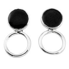 Black onyx enamel 925 sterling silver dangle earrings jewelry c23095