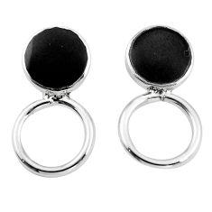 Black onyx enamel 925 sterling silver dangle earrings jewelry c23097
