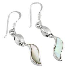 Blister pearl enamel 925 sterling silver dangle earrings jewelry c22184
