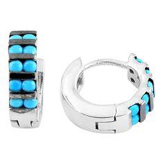 2.73cts blue sleeping beauty turquoise 925 silver dangle earrings a90455 c24803