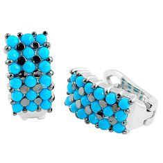 Blue sleeping beauty turquoise 925 sterling silver stud earrings c19491