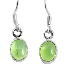 4.22cts fine green prehnite 925 sterling silver dangle earrings jewelry r60683