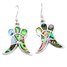 Green abalone paua seashell 925 sterling silver stud earrings a77478 c14279