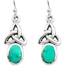 3.61cts green arizona mohave turquoise 925 sterling silver earrings c9943