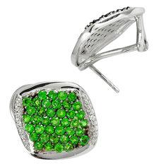 Green chrome diopside quartz topaz 925 silver stud earrings jewelry c20697