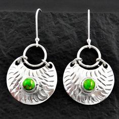 pper turquoise 925 sterling silver dangle earrings d40594