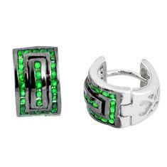 3.38cts green emerald quartz 925 sterling silver dangle earrings a90450 c24815
