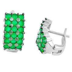 Green emerald quartz 925 sterling silver stud earrings jewelry a86880 c24834