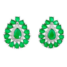Green emerald quartz topaz 925 silver star fish earrings jewelry c19400