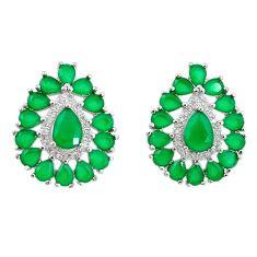 Green emerald quartz topaz 925 silver star fish earrings jewelry c19551