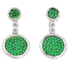 Green emerald quartz topaz 925 sterling silver dangle earrings c26066