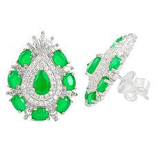 Green emerald quartz topaz 925 sterling silver earrings jewelry c19398