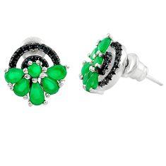 Green emerald quartz topaz 925 sterling silver stud earrings c19476