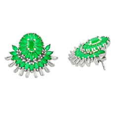 Green emerald quartz topaz 925 sterling silver stud earrings c19504