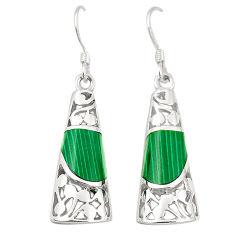 Green malachite (pilots stone) 925 silver dangle earrings jewelry c11747