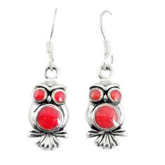 Honey onyx enamel 925 sterling silver owl charm earrings jewelry a74749 c14346